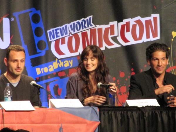 Andrew Lincoln (Rick), Sarah Wayne Callies (Lori), and Jon Bernthal  (Shane)