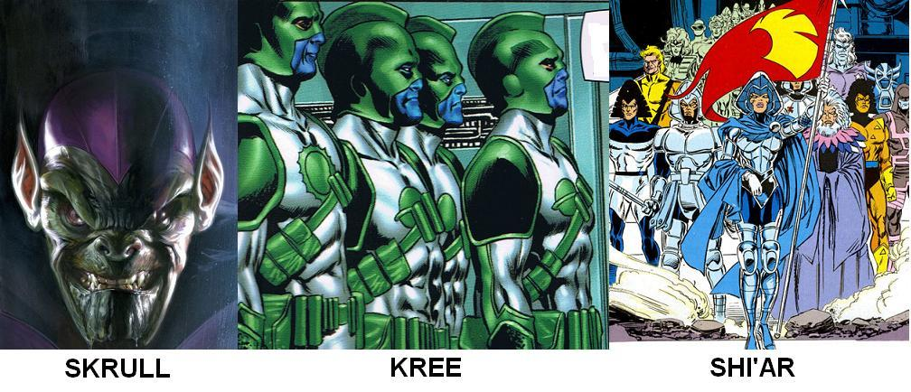 established alien races for the Avengers to kick the crap out of